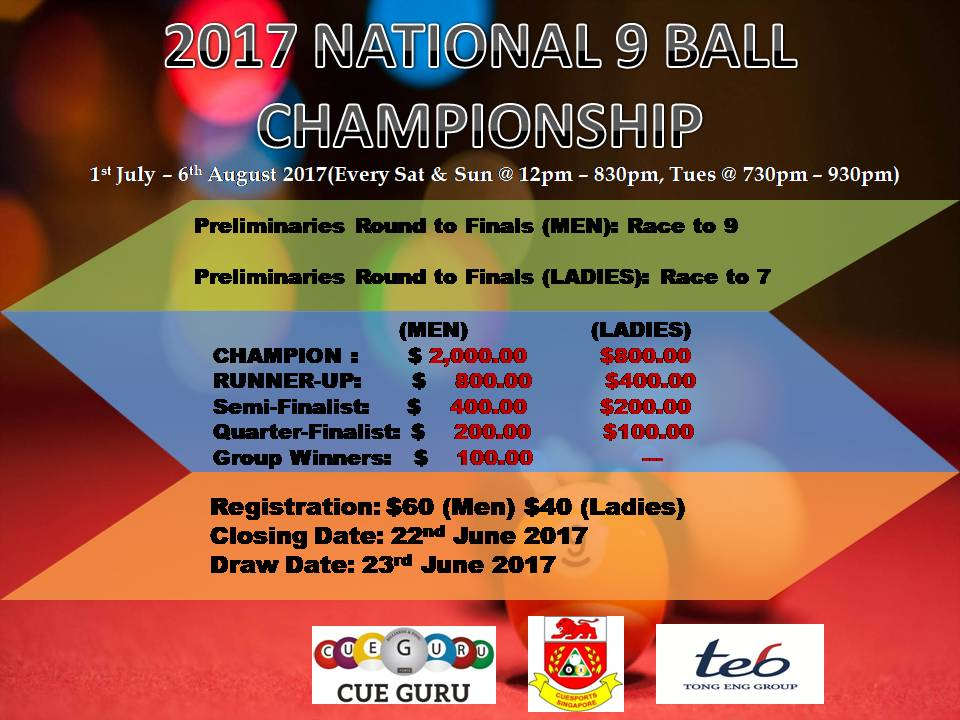 National 9 ball Poster