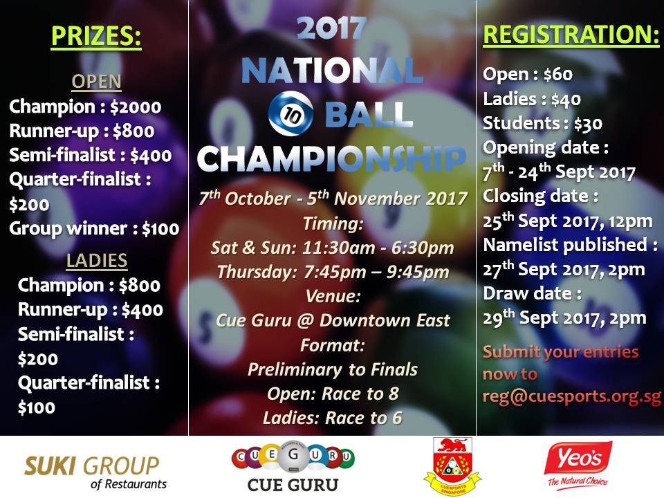 National 10 ball Poster